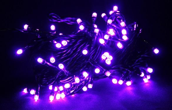 lampki led 100 choinkowe fioletowe 9m
