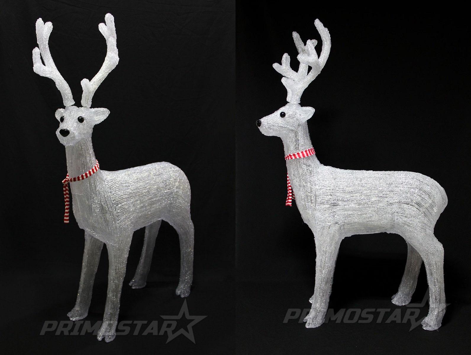 figurki led 400 renifer jelen ciepla biel 140 cm