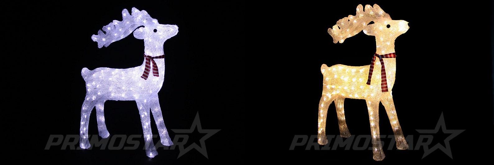 figurki 160 led ozdobny renifer jelonek akryl 73cm