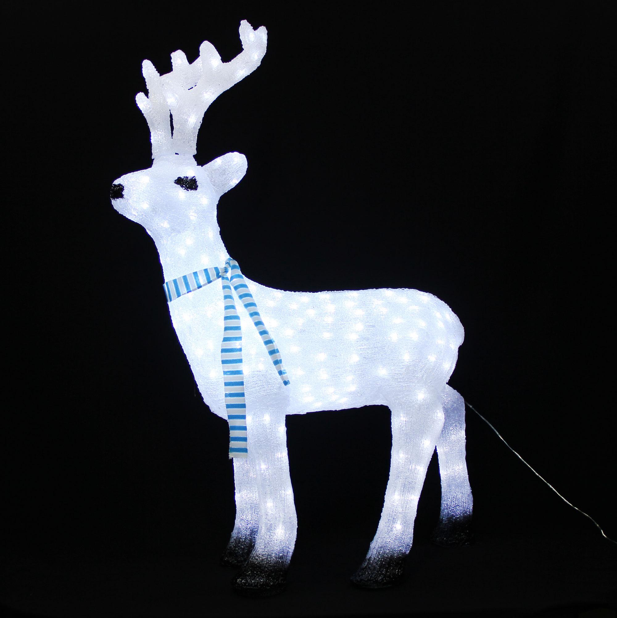 renifer 3d 110cm jelen lampki 240 led